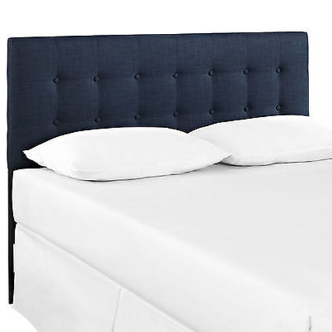 Emily Full Fabric Headboard in Navy
