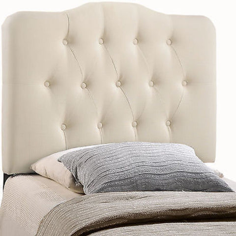 Annabel Twin Fabric Headboard in Ivory