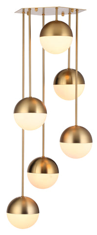 Waterfall Chandelier in Brass