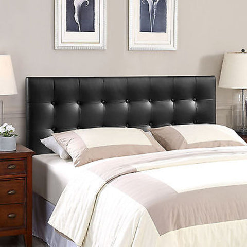 Emily King Vinyl Headboard in Black
