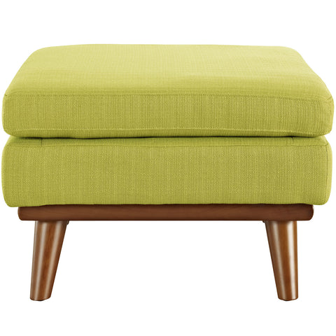 Engage Fabric Ottoman in Wheatgrass