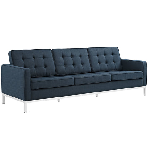 Loft Fabric Sofa in Azure
