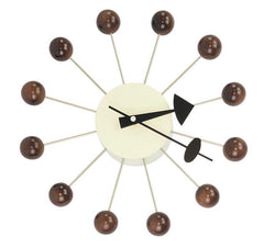 Ball Clock in Walnut