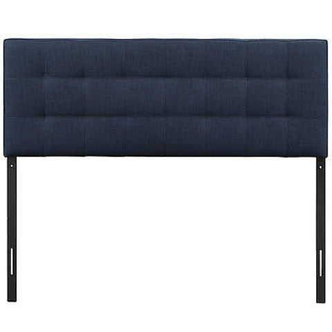 Lily Twin Fabric Headboard in Navy