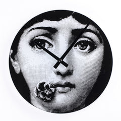 Midcentury Style Girl Barcelona Clock in Black and White