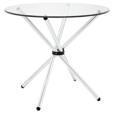 Baton Dining Table in Clear - Mid Mod Finds