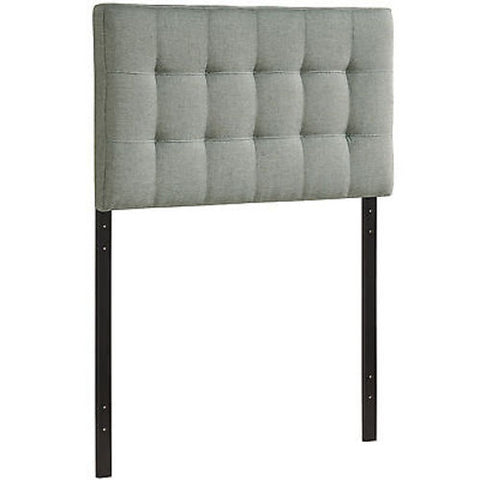 Lily Twin Fabric Headboard in Gray