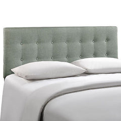 Emily King Fabric Headboard in Gray