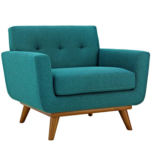 Engage Upholstered Armchair in Teal