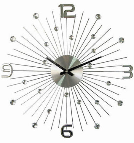 Million Dollar Silver Retro Sunray Clock