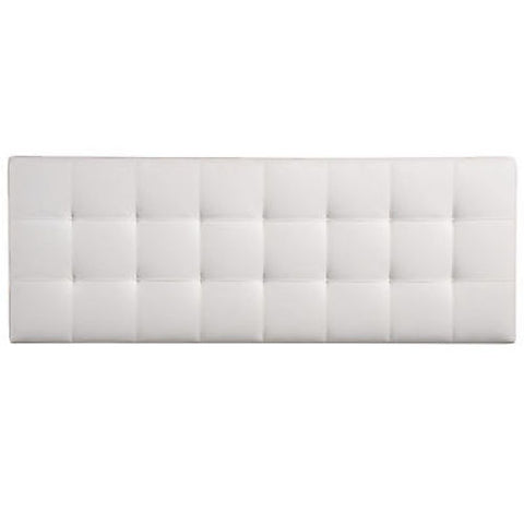 Lily Full Vinyl Headboard in White