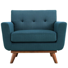 Engage Upholstered Armchair in Azure - Mid Mod Finds