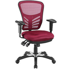 Articulate Mesh Office Chair in Red