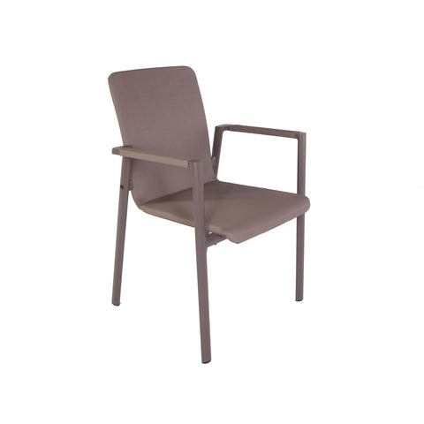 Forlanini Outdoor Dining Chair In Taupe