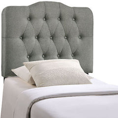 Annabel Twin Fabric Headboard in Gray