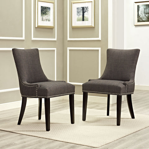 Marquis Fabric Dining Chair in Brown