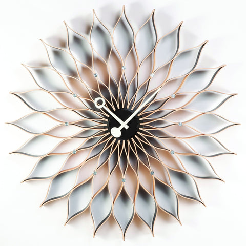 Sunflower Clock in Natural