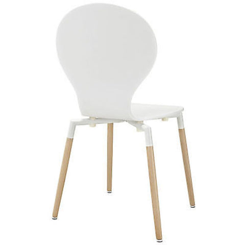 Path Dining Side Chair in White