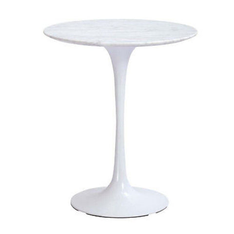 Marble Round Side Table 20""