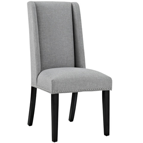 Baron Fabric Dining Chair in Light Gray