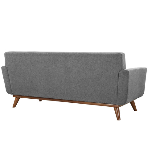 Engage Upholstered Loveseat in Expectation Gray