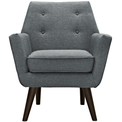 Posit Upholstered Armchair in Gray