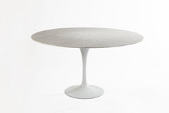 Marble Round Dining Table 60 WHITE
