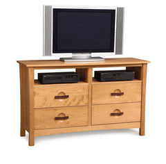 Berkeley Four Drawer Dresser With TV Organizer by Copeland - Mid Mod Finds