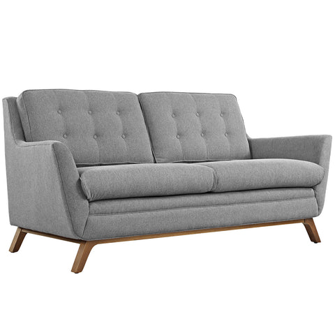 Beguile Fabric Loveseat in Expectation Gray