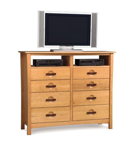 Berkeley Eight Drawer Dresser With TV Organizer by Copeland - Mid Mod Finds
