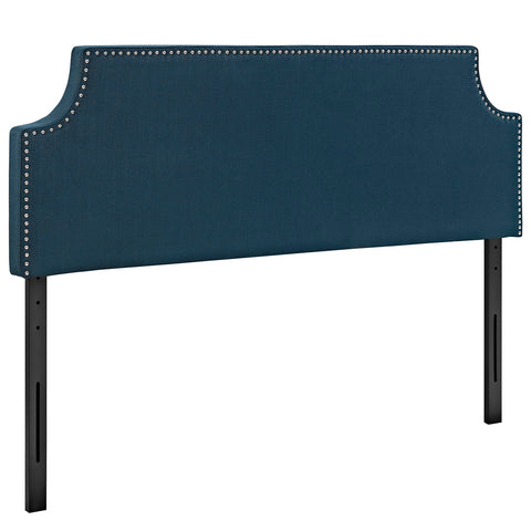 Laura Full Upholstered Fabric Headboard in Azure