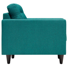 Empress Upholstered Armchair in Teal