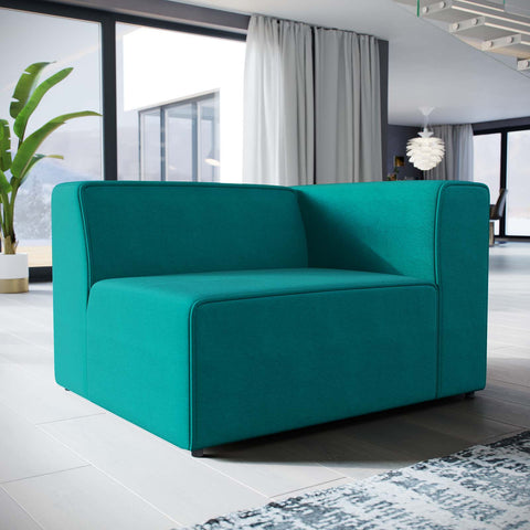 Mingle Fabric Armchair in Teal