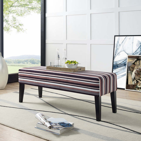 Connect Wood Bench in Stripe