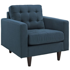 Empress Upholstered Armchair in Azure - Mid Mod Finds