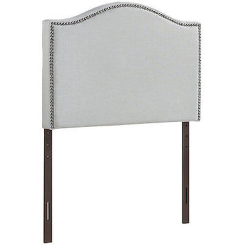 Curl Twin Nailhead Upholstered Headboard in Gray
