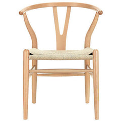 Hans Wegner Wishbone Style Chair in Natural - Mid Mod Finds
