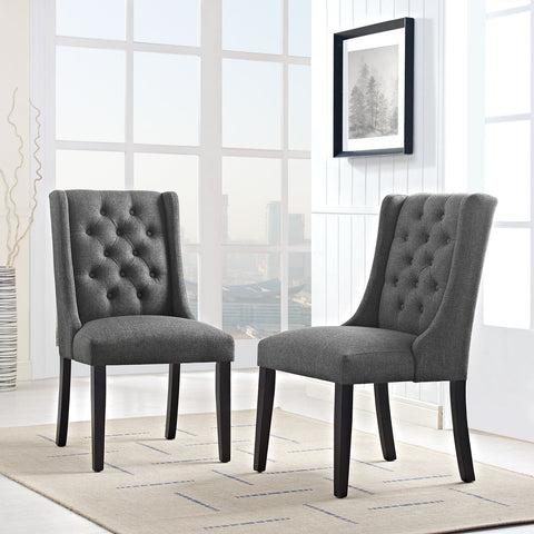 Baronet Fabric Dining Chair in Gray