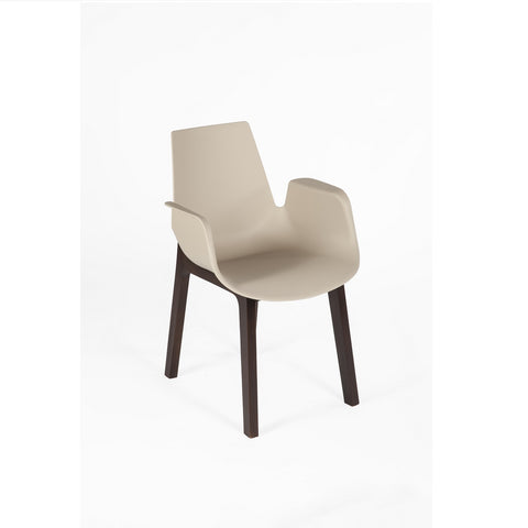 Hordaland Armchair in Beige and Walnut