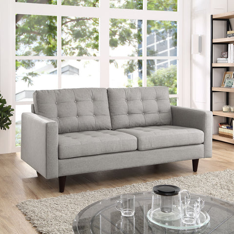Empress Loveseat in Light Gray