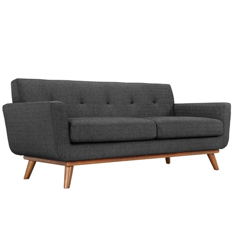 Engage Upholstered Loveseat in Gray