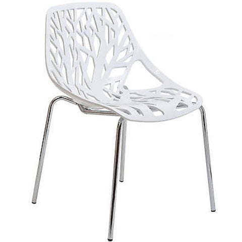 Stencil Chair in White Plastic