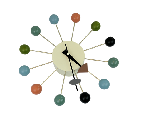 Ball Clock in Multicolor