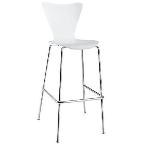 Jacobsen Series Seven Style Barstool Chair in White