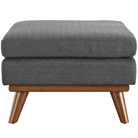 Engage Fabric Ottoman in Gray