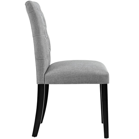 Duchess Fabric Dining Chair in Light Gray