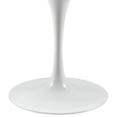 "Saarinen Tulip Style 40"" Wood Top Dining Table in White"