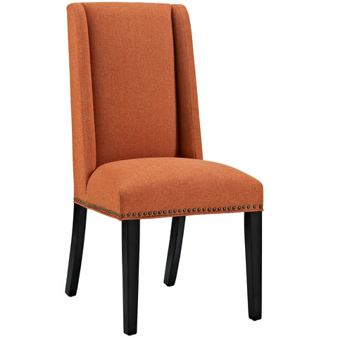Baron Fabric Dining Chair in Orange