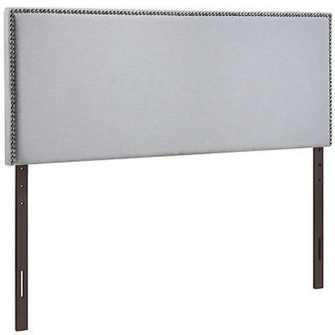 Region Full Nailhead Upholstered Headboard in Gray