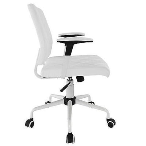 Lattice Vinyl Office Chair in White